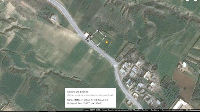 Terrain 1050 m2 à el Haouaria Bir Jedy