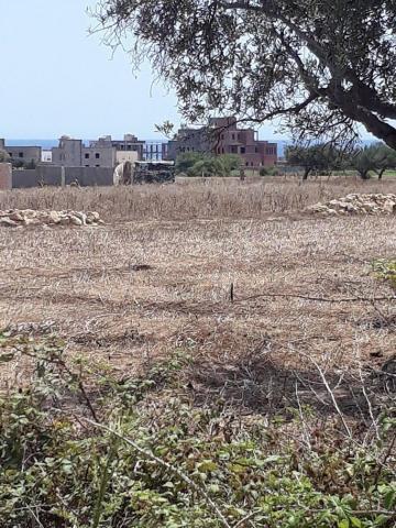 terrain vue sur mer 400m² de la plage   EZZAHRA