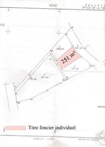 Réf 3030:ارض للبيع بحي الصنوبر بنزرت