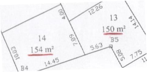 2 Lots 154 m² et 150 m² a Bni Nafaa Bizerte