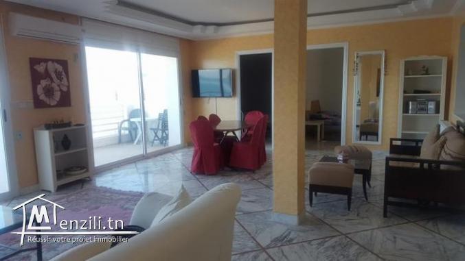 Luxueux appartement meublé avec vue mer