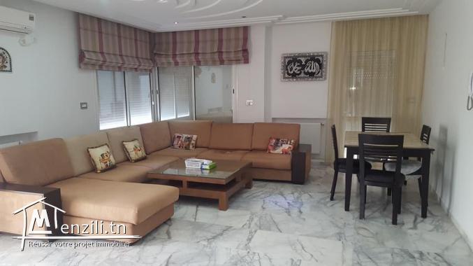 Étage de villa bien meublée à Hammam Sousse
