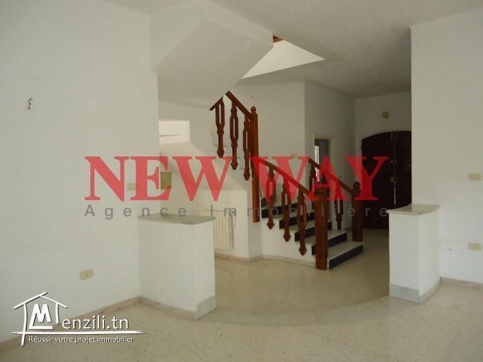 Villa à khzema ouest dans un quartier résidentiel