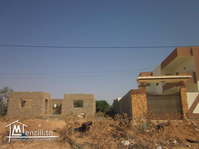 carcasse villa 168m² sur terrain 543m² sfax routa matar km6.5