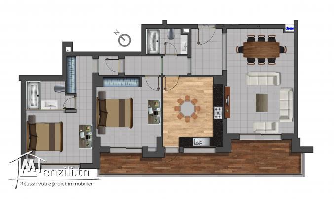 Appartement S+2 de 161 m² en plein corniche de sousse