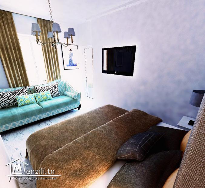 Appartement S0 de 80m² à la cité olympique Sousse