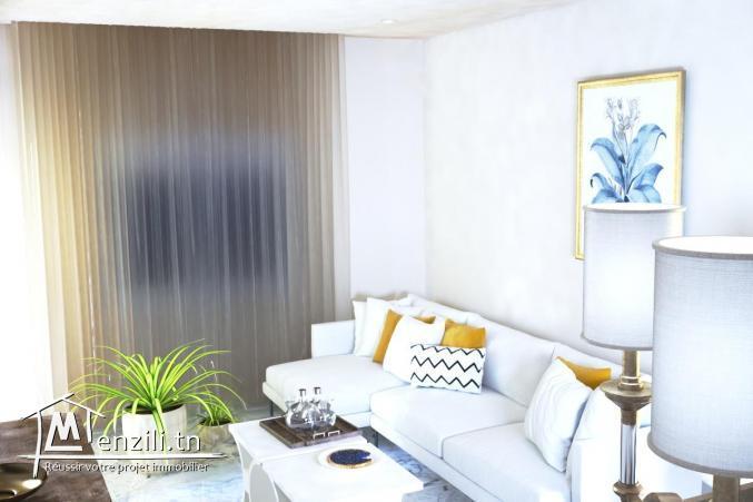 Appartement S+1 de 79 m² à la cité olympique Sousse