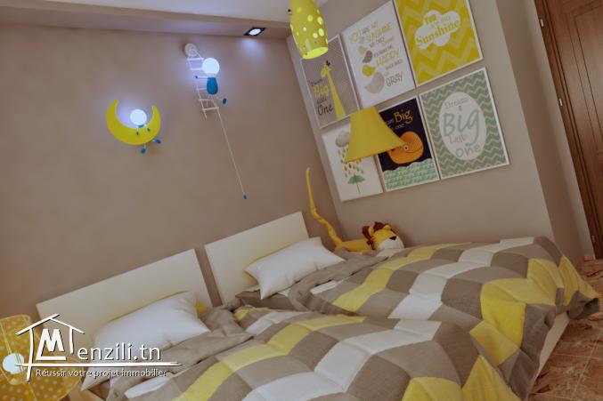 Appartement S+2 de 106 m² à la cité olympique Sousse