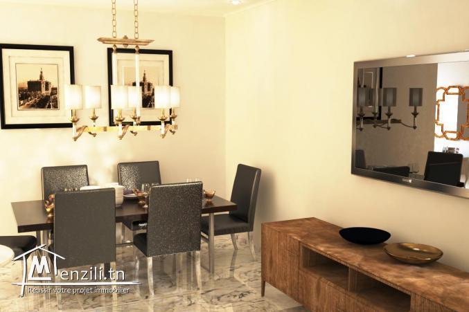 Appartement S+2 de 130 m² à la cité olympique Sousse
