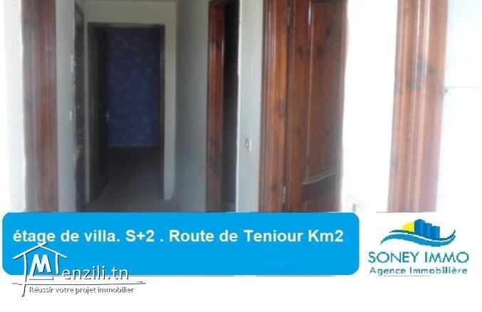 Etage de villa s+2 .Route de téniour km 2 Sfax