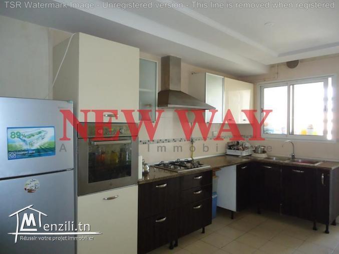 Appartement (S+3) de 135 m² à sousse vue de mer avec place de parking