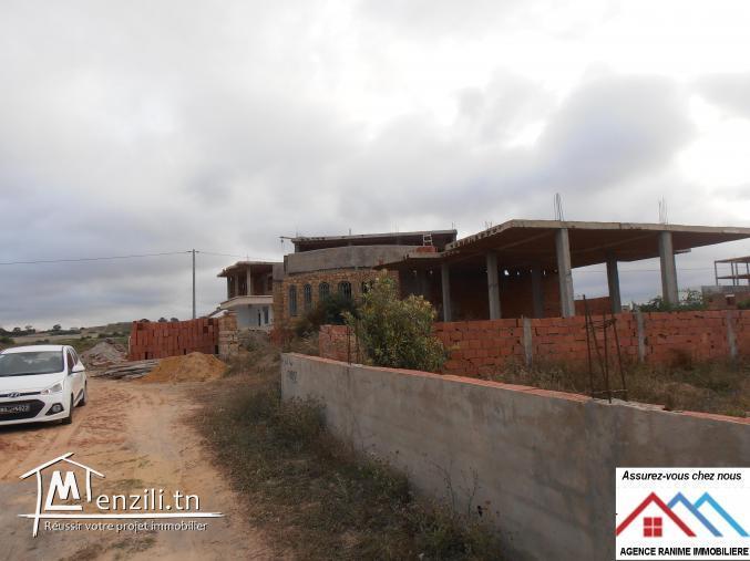 villa inachevée ds 240m2 a la plage de kerkouanne