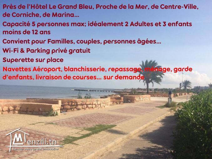 Appartement meublé bien situé à Houmt Souk Djerba , wifi parking...