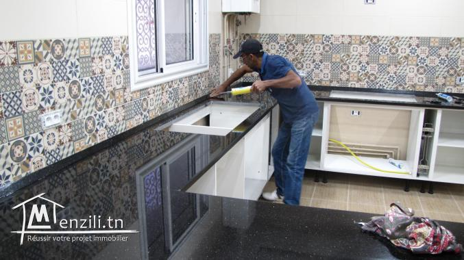 Pose et fabrication des plan de travail pour cuisines