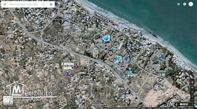 Terrain zone touristique Djerba avec permis de bâtir