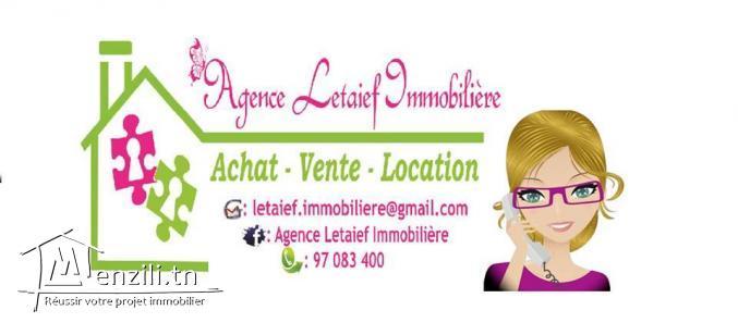 Agence letaief immobilière met en vente un appartement S+3  a khzema slim centre .