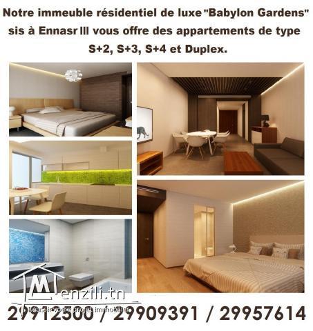 Appartements S+4 de haut standing à Ennasr 3 (offre promotionnel)