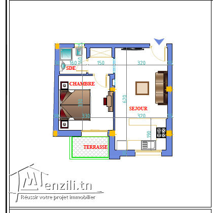 Appartement haut standing 3 aout