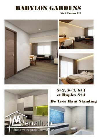 Appartements et Duplex de luxe à Ennasr 3