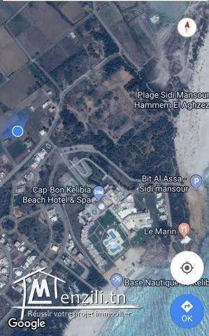 terrain a vendre a kelibia prés la zone touristique et en face de l'hotel kelibia la blanche
