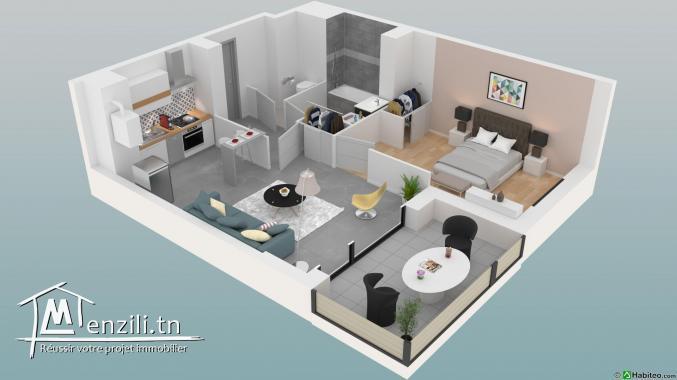 Appartement s+1 nouvellement construit