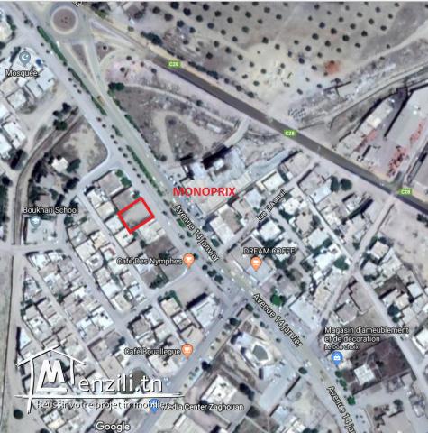 Terrain 445M2 bien situé cité des Nymphes face Monoprix sur route Tunis-Zaghouan