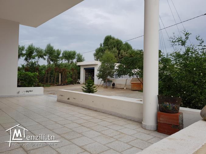 Très bonne occasion au Cap-Bon terrain agricole avec villa dans un cartier Calme
