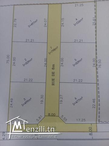 A vendre Terrain de 3825,5 m²