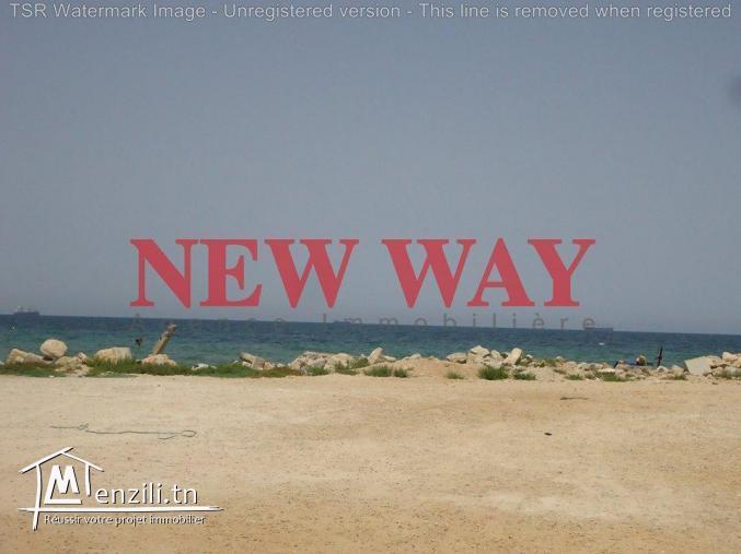 Terrain de 379 m² situé au première position de la mer à Sidi Abdelhamid