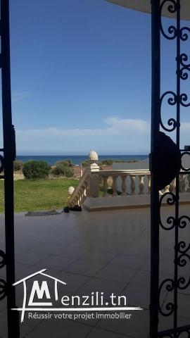 villa a 1ere position à la plage kerkouane