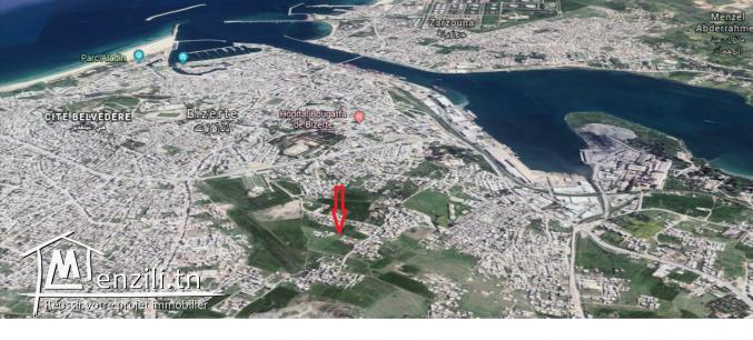 A vendre un terrain de 316 m² à Bizerte Citée  el jala