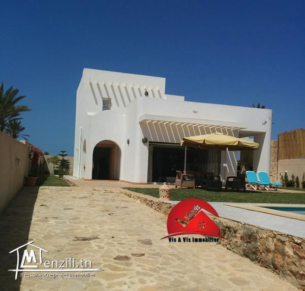 maison villa avec piscine priv e pour location longue dur e a midoun djerba m denine djerba. Black Bedroom Furniture Sets. Home Design Ideas