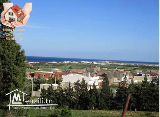 3000 m² a Ezzahra hamem ghzez vue extraordinaire