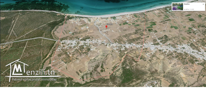 terrain a vendre 5 minute a la plage zahra kelibia