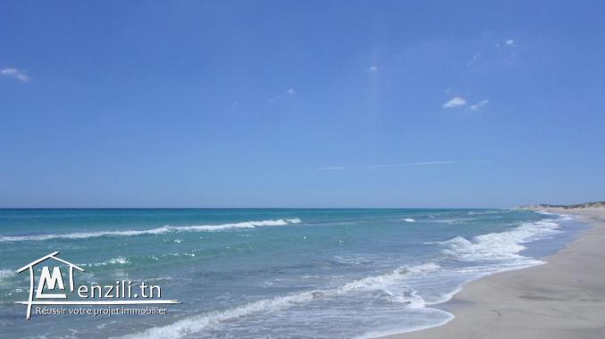 terrain au bord de la mer a la plage ain grinz