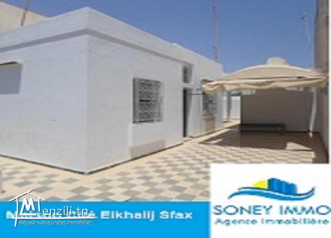 Maison à la cité el khalij route sidi mansour km 3