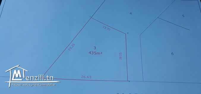 A vendre terrain de 435 m2 à Akouda - Sousse