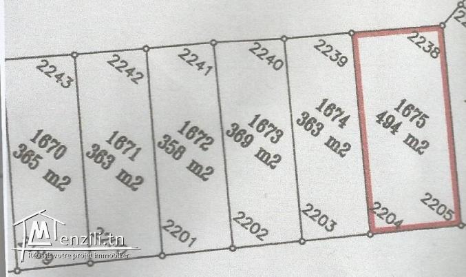 A vendre un joli terrain à sahloul 4 avec autorisation de faire une R+2