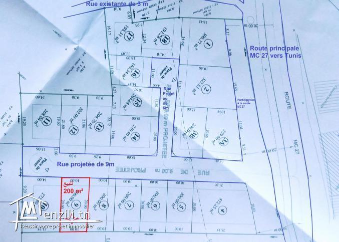 V.Lot de terrain 200m² Kélibia Opportunité