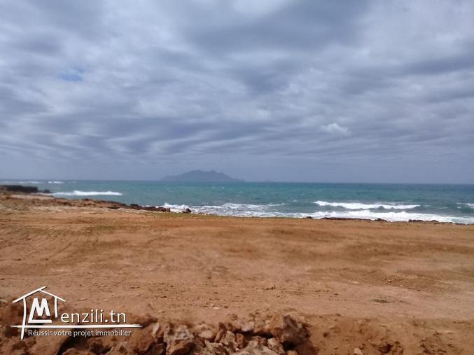 Terrain premier position  par apport de la plage el haouaria
