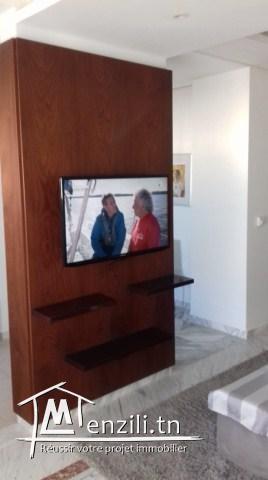 A louer à l'année à Sousse ville un bel appartement bien meublé proche de toute commodité