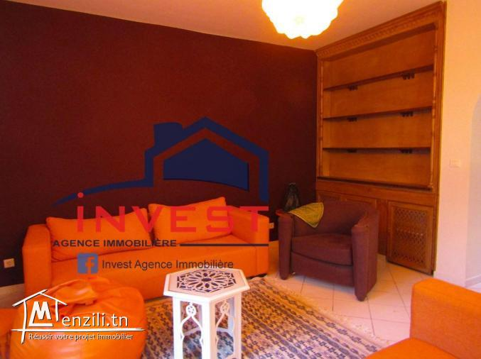 Duplex S+2 meublé avec jardin au Golden Tulip