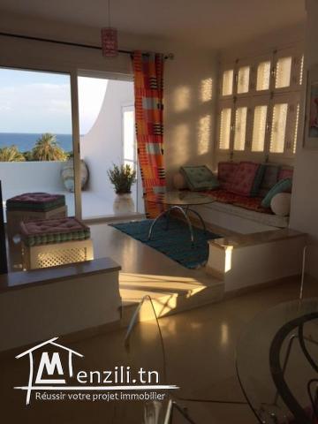 Un appartement à Hammamet Nord de 111 m² ayant une terrasse vue mer à 290 MDT