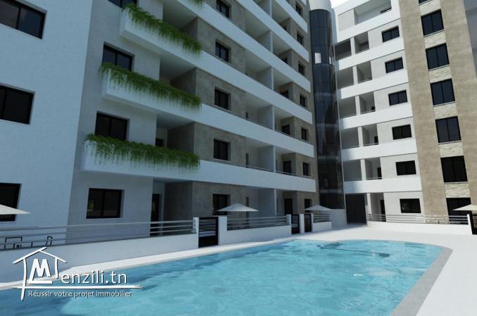 Un spacieux S+3 dans une résidence haut standing piscine à AFH Mrezga