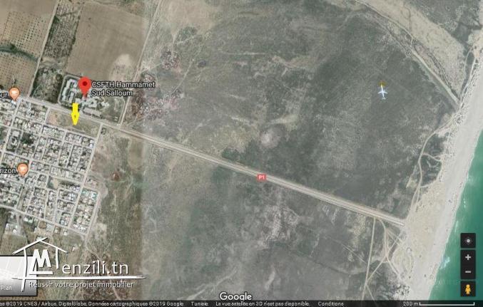 Terrain nu en face de CSFTH et à 1km de la plage Salloum