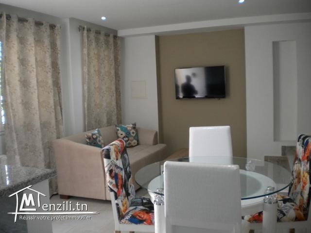 Un duplex meublé de 100 m² à 1200 DT/ mois à Hammamet