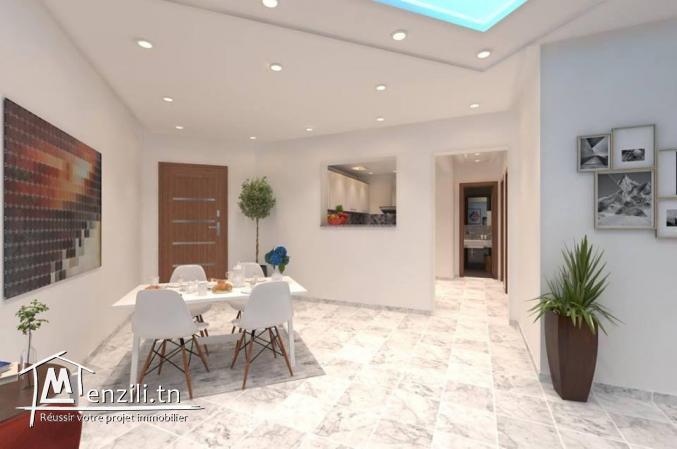 Appartement S+2 de 80.13 m² à AFH Mrezga