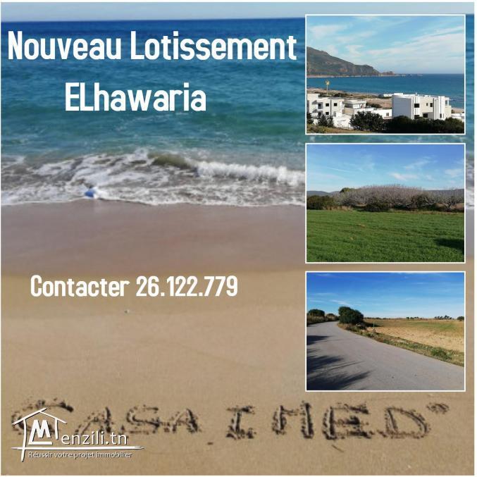 à vendre des lots de terrain 800 m à la plage elhawaria