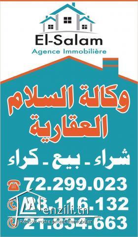 الوكالة السلام العقارية تقسيم جديد في دار علوش قليبية
