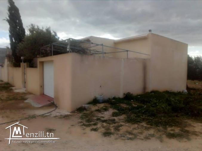 une maison sur terrain de 250m² a hammamet